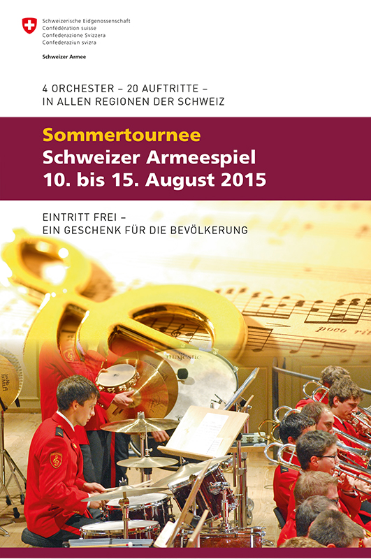 Swiss Army Brass Band macht Halt in Amriswil